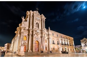 Syracuse Cathedral and Archbishop's Palace in Syracuse - Sicily, Italy