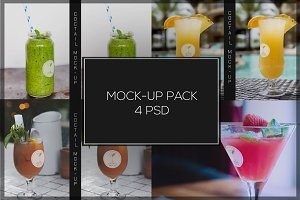 Coctail Glass Mock-up Pack#2