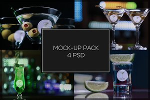 Coctail Glass Mock-up Pack#4
