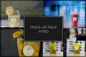 Coctail Glass Mock-up Pack#1