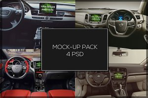 Car Navigation Tablet Mock-up Pack#3