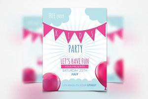 Kids Party Flyer #036