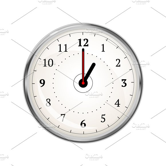 Clock Face Showing 01-00