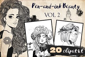 Pen-and-ink Beauty. VOL2