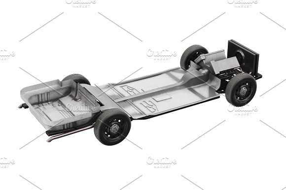 Chassis frame car set ~ Objects ~ Creative Market