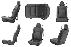 Car seat leather set