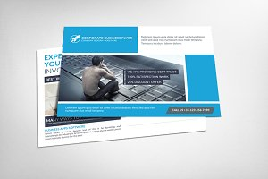 Business Solutions Postcard Template