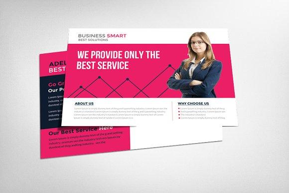 Marketing business postcard template card templates creative market marketing business postcard template fbccfo Choice Image
