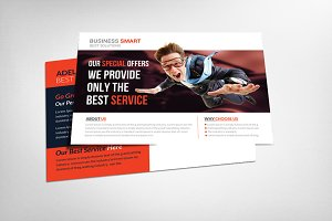 Transport Business Postcard Template
