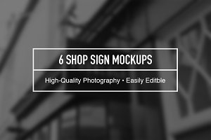 Shop Sign Mockup Bundle