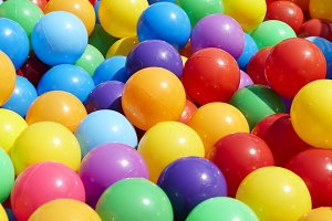 Colorful plastic balls playground outdoor