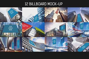 12 Billboard Mock-up Pack