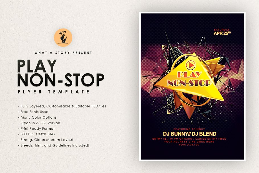 Play non-stop in Flyer Templates