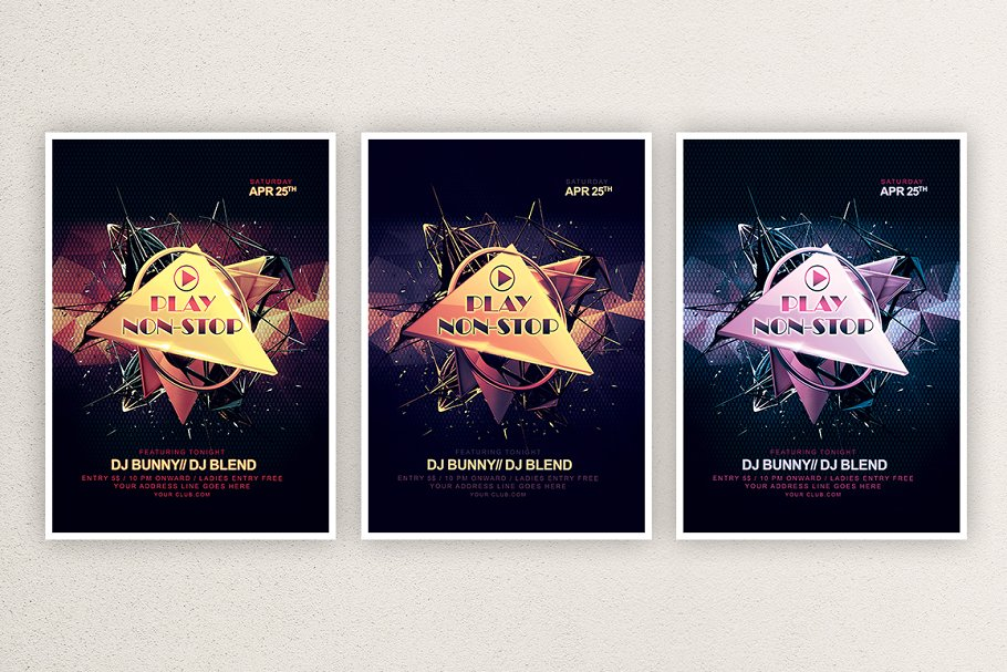 Play non-stop in Flyer Templates - product preview 1