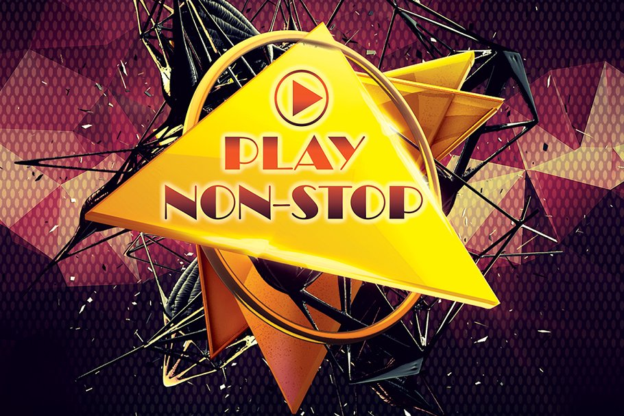Play non-stop in Flyer Templates - product preview 3