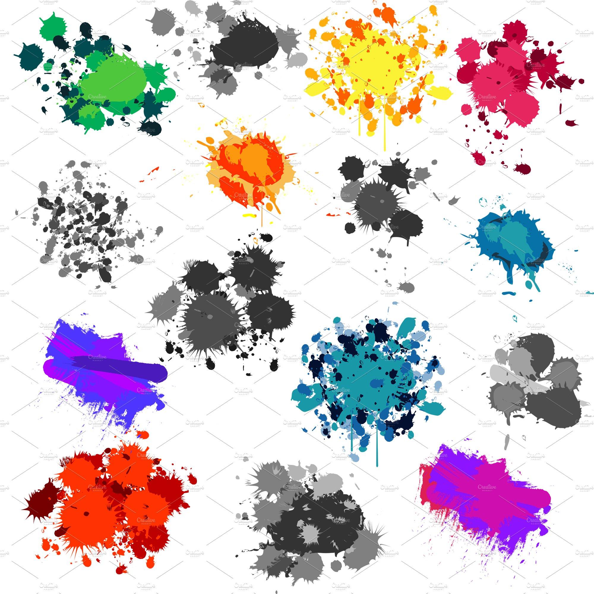 Paint Splatters Vectors And Clipart Illustrations Creative Market