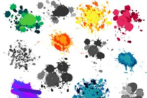 Paint Splatters Vectors and Clipart