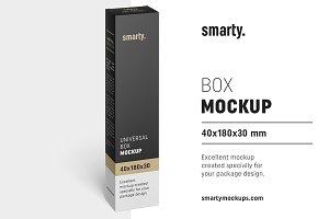 Box mockup / 40x185x30 mm