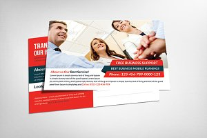 Global Business Postcard Template