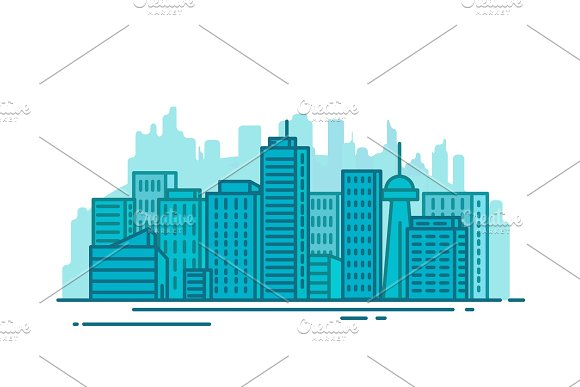 City With Buildings
