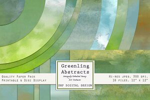 Green Spring Abstract Art Graphics