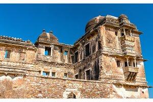 Ruins of Gora Badal Palace at Chittorgarh Fort - Rajasthan, India