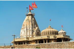 Hindu temple at Chittorgarh Fort. UNESCO world heritage site in Rajastan, India