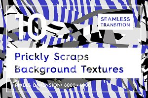 10 Prickly Scrap Background Textures