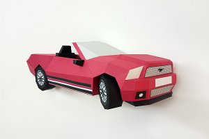 DIY Ford Mustang - 3d papercraft