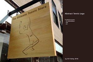 Abstract tennis logo - HQ