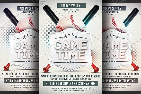 Baseball Game Flyer Template ~ Flyer Templates ~ Creative Market