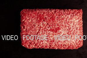 Timlapse defrosting of ground beef