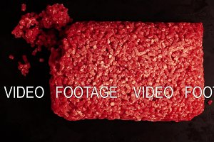 Stop Motion Animation Briquettes of ground beef