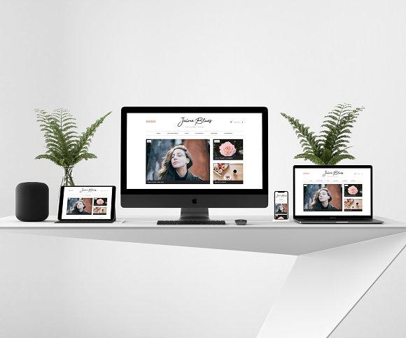 Jaime Blues WordPress Blog Shop