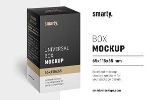 Box mockup / 65x115x65 mm
