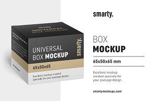 Box mockup / 65x50x65 mm
