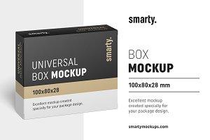 Box mockup / 100x80x28 mm