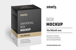 Box mockup / 70x100x60 mm