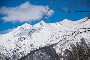 Mountains covered with snow snowcaps landscape