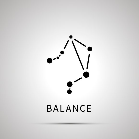 Balance constellation simple icon