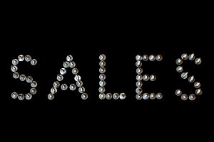 Word sales lined with screws letters