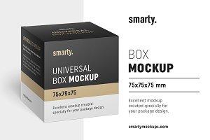 Box mockup / 75x75x75 mm