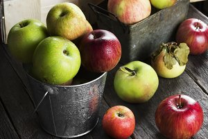 Various ripe apples