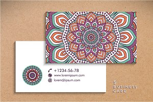 5 Business card in ethnic style