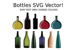 Glass Bottles SVG Vector