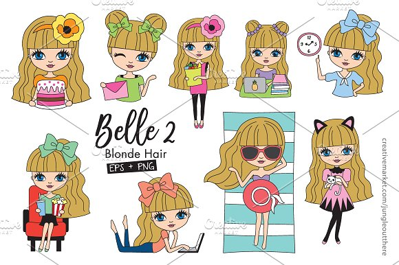 Blonde Hair Girl Planner Set