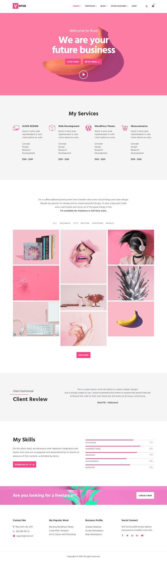 Vorsa Portfolio WordPress Theme