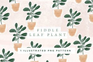 Fiddle Leaf Pattern