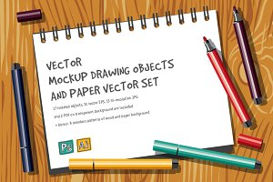 Vector mockup drawing objects