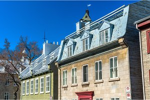 Buildings in the old town of Quebec City, Canada